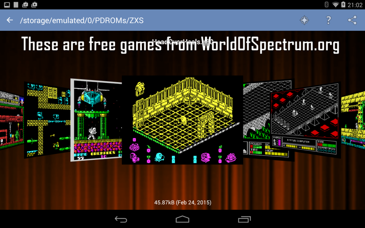 Speccy, emulador de Spectrum para Android, Linux y Windows